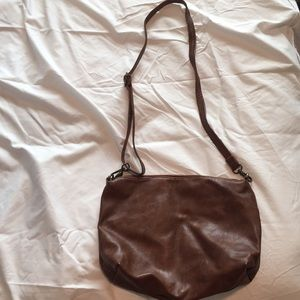 Soft Brown leather crossbody